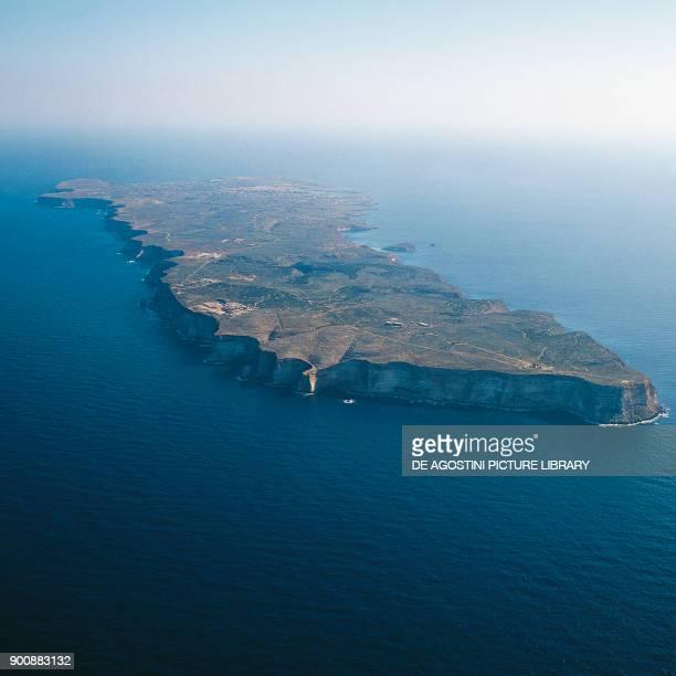 Aerial view of Lampedusa Island Pelagie Islands Sicily Italy