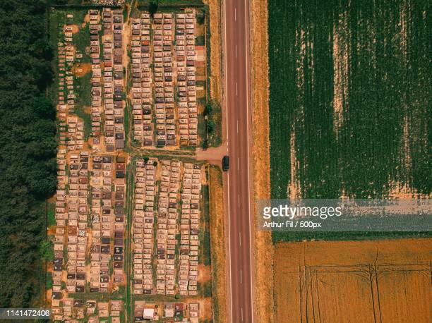 aerial view of land - arthur stock pictures, royalty-free photos & images