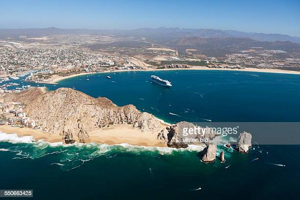 Aerial View of Lands End and Cabo San Lucas Cabo San Lucas Baja California Sur Mexico