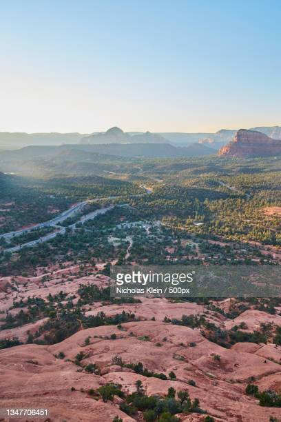 aerial view of landscape against clear sky - klein stock pictures, royalty-free photos & images