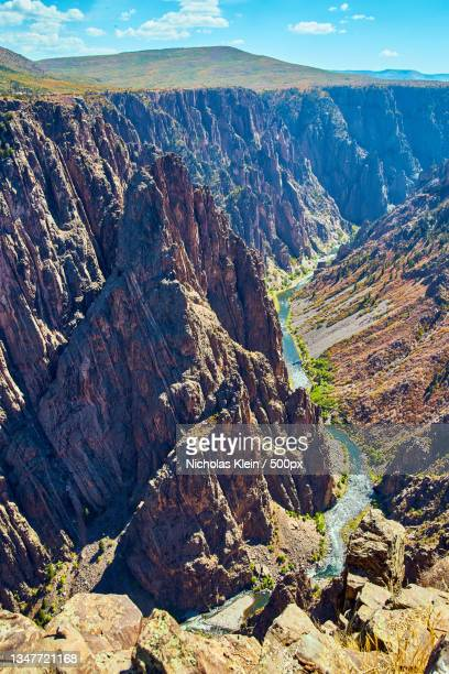 aerial view of landscape against cloudy sky - klein stock pictures, royalty-free photos & images