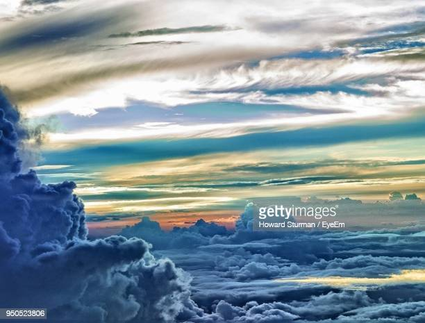 aerial view of landscape against cloudy sky - howard,_wisconsin stock pictures, royalty-free photos & images