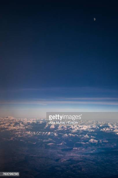 Aerial View Of Landscape Against Sky At Night