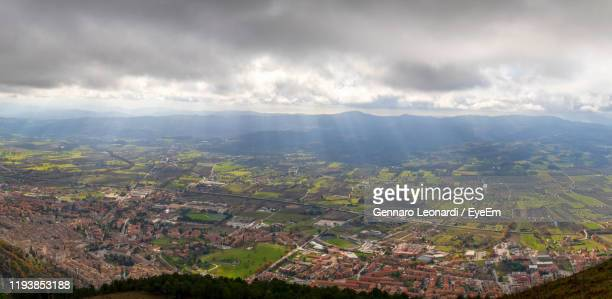 aerial view of landscape against sky - territory stock pictures, royalty-free photos & images