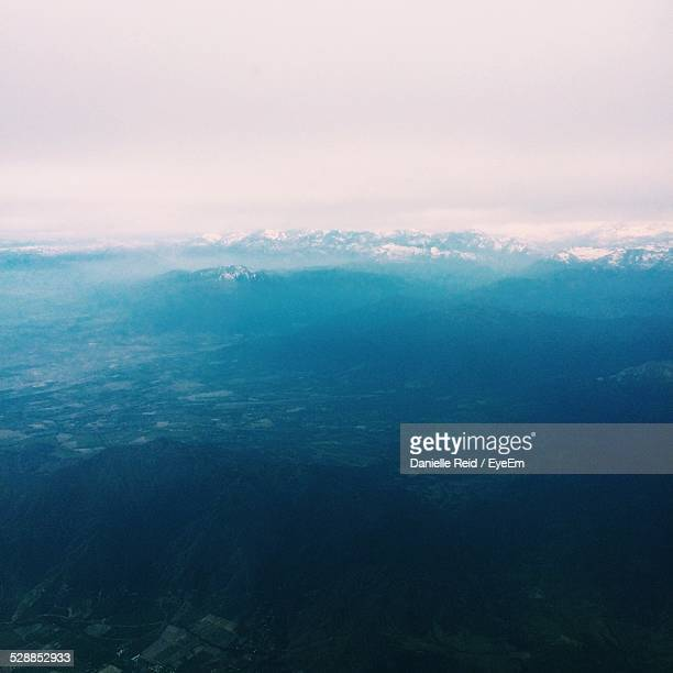 aerial view of landscape against sky - danielle reid stock pictures, royalty-free photos & images