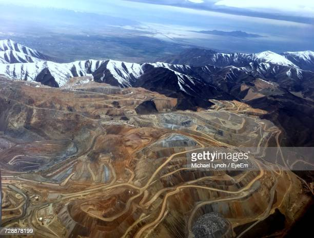 aerial view of landscape against sky - herriman stock pictures, royalty-free photos & images