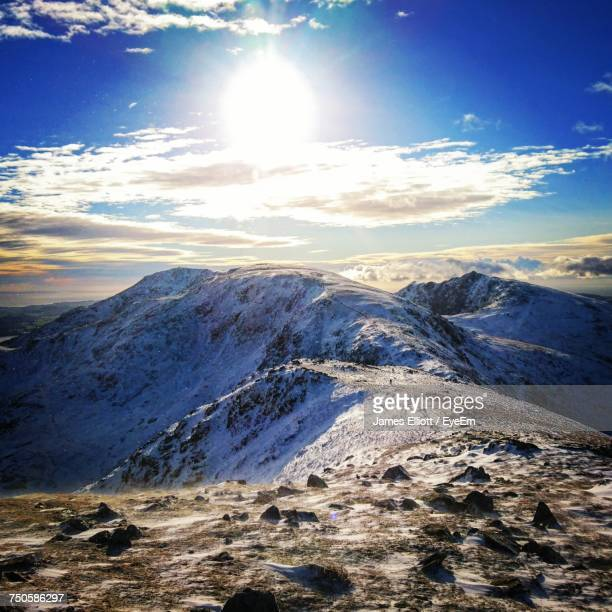 aerial view of landscape against sky - ambleside stock photos and pictures
