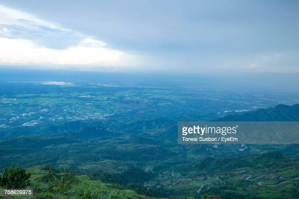 aerial view of landscape against sky - torwai stock pictures, royalty-free photos & images