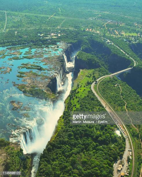 aerial view of landscape - victoria falls stock pictures, royalty-free photos & images