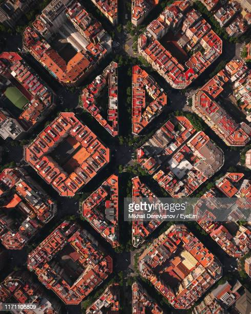 aerial view of landscape - barcelona spain stock pictures, royalty-free photos & images