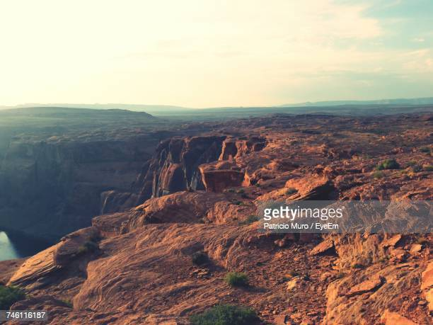 aerial view of landscape - muro stock photos and pictures