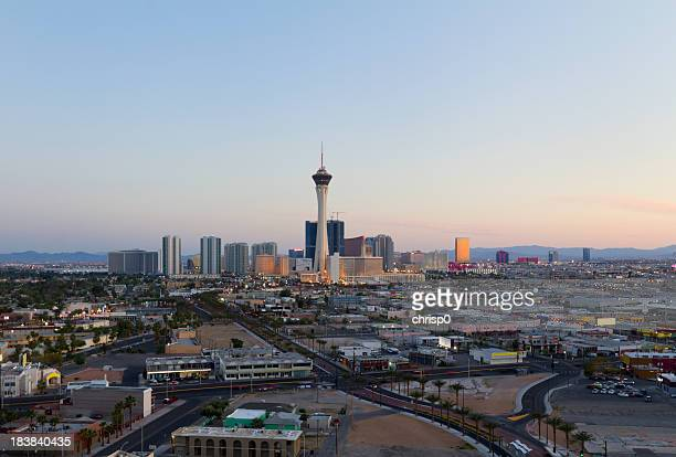 Aerial View of Las Vegas at Sunset
