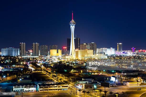 Aerial View of Las Vegas at Twilight