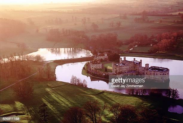 Aerial view of Leeds Castle