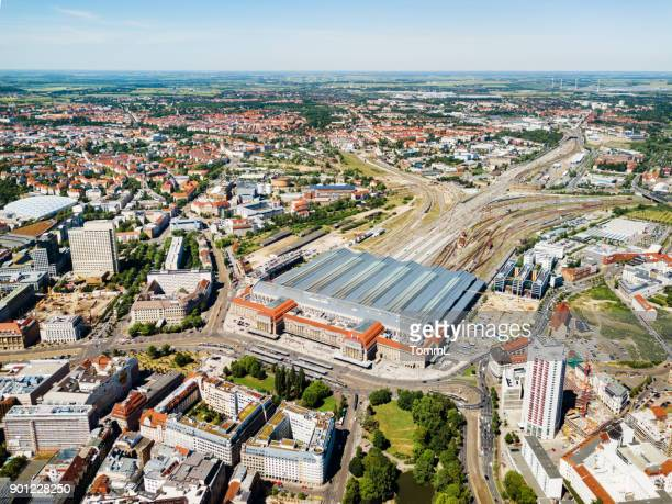Aerial View Of Leipzig and Main Station