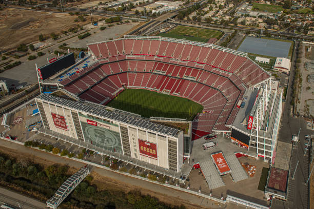 aerial view of Levi's stadium in Santa Clara CA home of the NFL 49ers