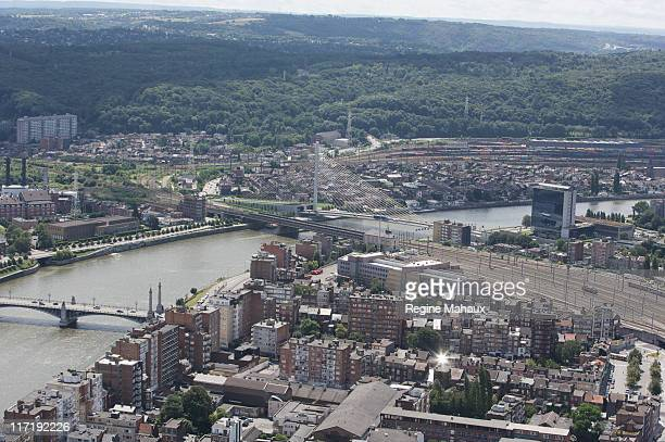 Aerial view of Liege