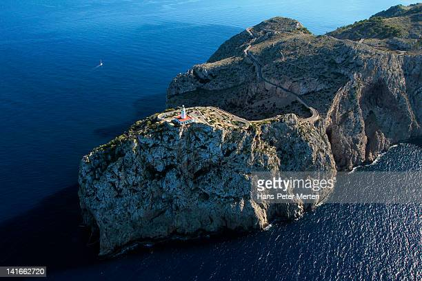 aerial view of lighthouse at Cap de Formentor