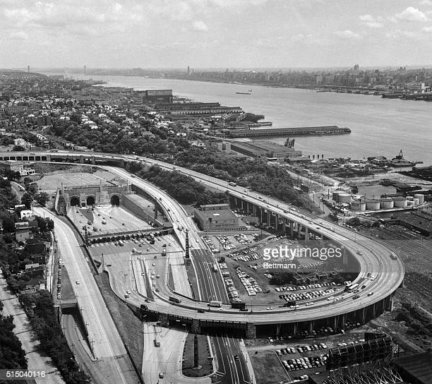 Aerial View of Lincoln Tunnel Approach