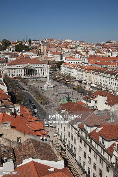 Aerial view of Lisbon cityscape, Extremadura, Portugal