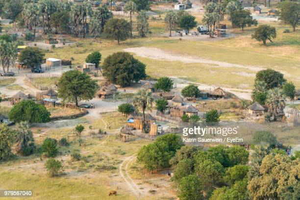 Aerial View Of Local Village In Botswana
