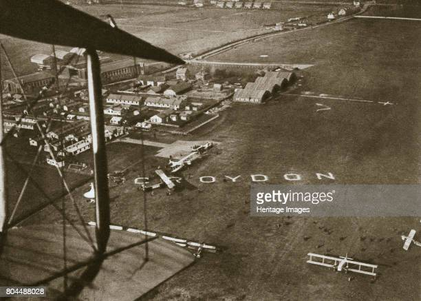 Aerial view of London Airport 1925 London's first airport opened in 1920 at Croydon It was created by amalgamating two adjacent World War I airfields...