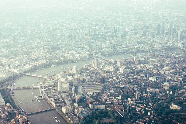 Aerial View Of London And The River Thames Wall Art