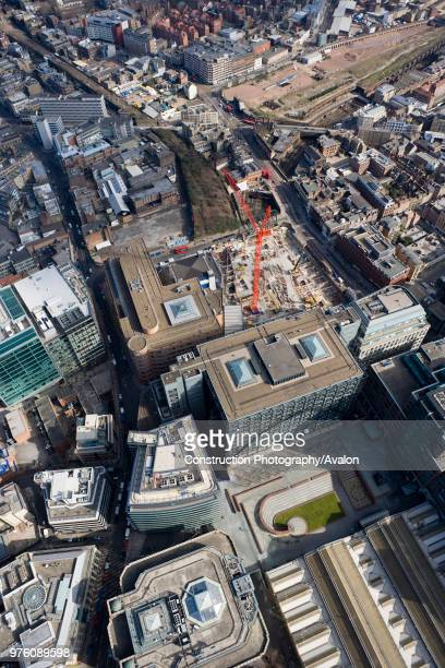 Aerial View of London Construction Site 201 Bishopsgate and the Broadgate Tower in 2006