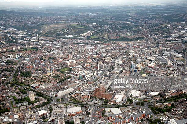 aerial view of london - sheffield stock pictures, royalty-free photos & images