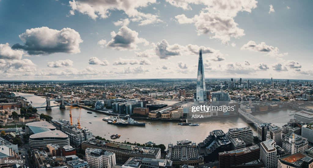 Aerial view of London : Stock Photo