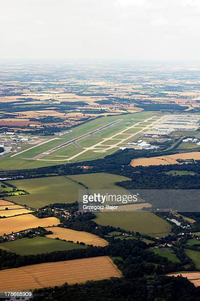 Aerial view of London stansted Airport, Uttlesford, Essex, England, UK.