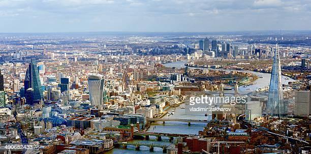 Aerial view of London vista