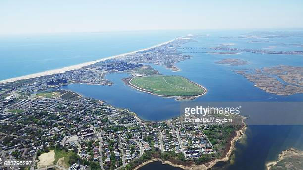 aerial view of long island - long island stock pictures, royalty-free photos & images