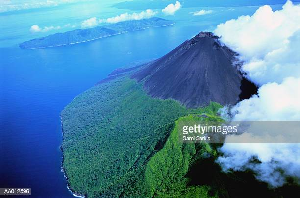Aerial View of Lopevi Volcano Island