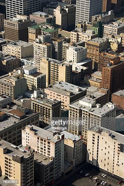 aerial view of los angeles, california - thinkstock foto e immagini stock
