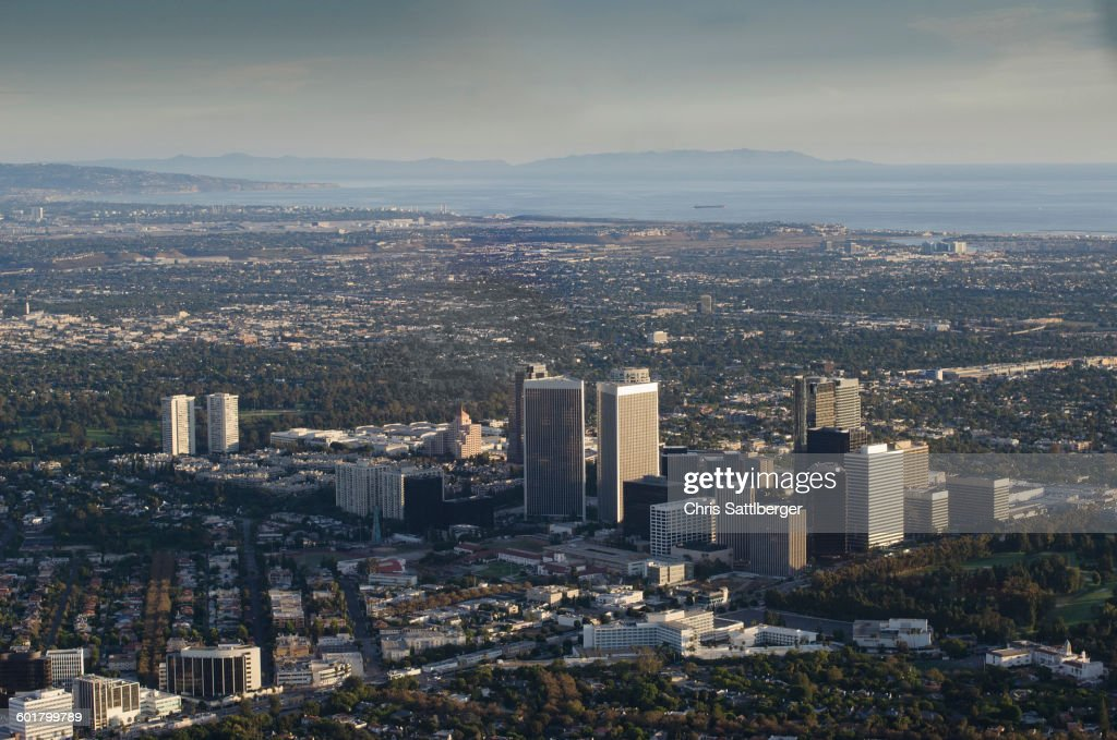 Aerial view of Los Angeles cityscape, California, United States : Stock Photo