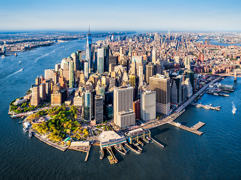 aerial view of Lower Manhattan. New York 946087016