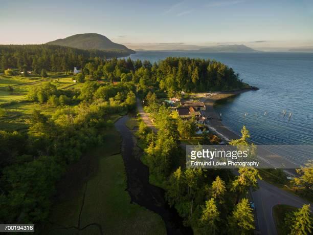 Aerial View of Lummi Island, Washington