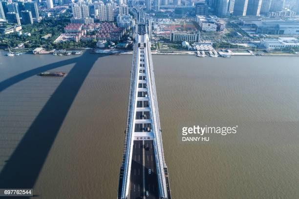 aerial view of Lupu bridge