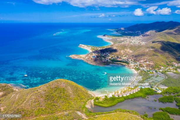 aerial view of luxury resort, caribbean, antilles - barbados stock pictures, royalty-free photos & images