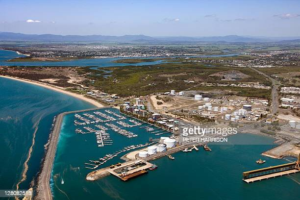Aerial view of Mackay Harbour, Queensland.
