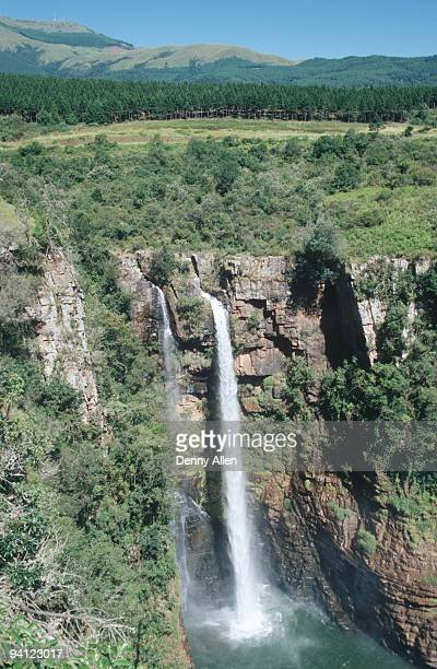 aerial view of mac-mac falls, mpumalanga province, south africa - mpumalanga province stock pictures, royalty-free photos & images