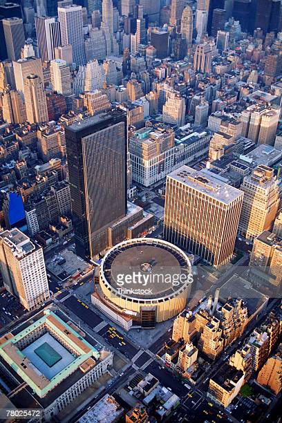 Aerial view of Madison Square Garden in New York City.