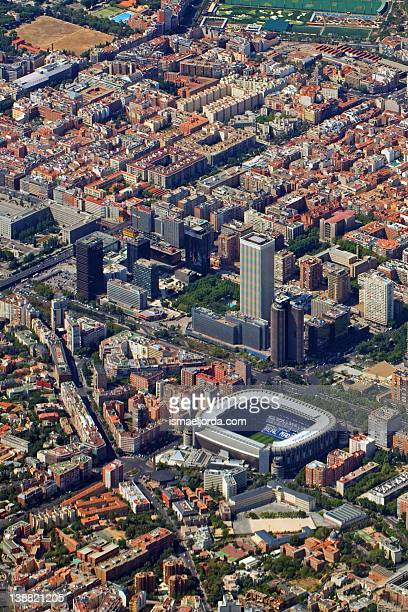 Aerial view of Madrid cityscape