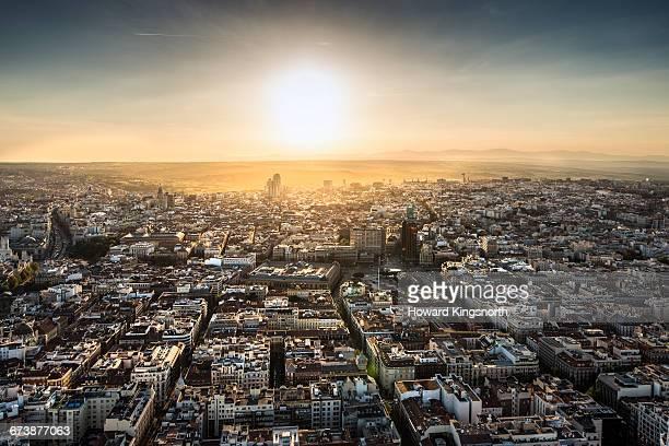 Aerial view of Madrid, Spain