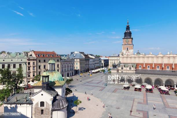 Aerial view of Main Square in Krakow