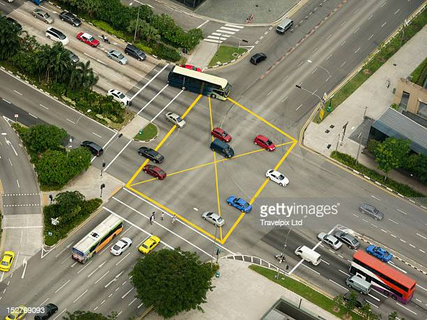 Aerial view of Major Road Junction Singapore
