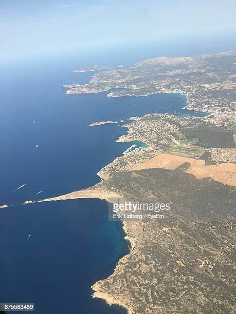 Aerial View Of Majorca And Sea
