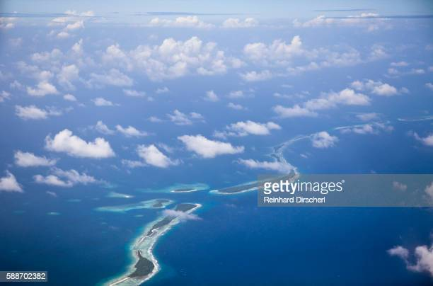 Aerial view of Majuro Atoll, Marshall Islands, Micronesia, Pacific Ocean