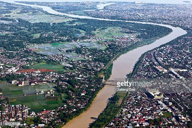 aerial view of makassar, indonesia - makassar stock pictures, royalty-free photos & images